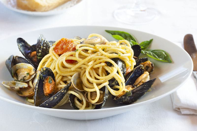 Spaghetti with mussels from Olbia